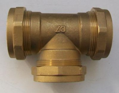 54mm Pipe Compression Equal Tee Fitting - 24505400